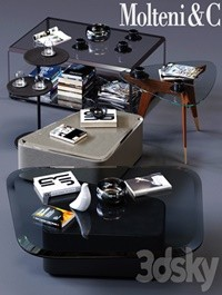 Molteni&C Coffee Tables Set 01