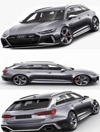 Audi RS6 avant 2020 3D model