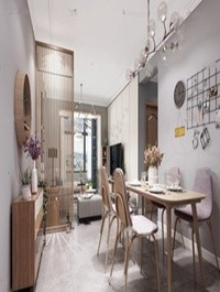 Modern Nordic Living/Dining room 02