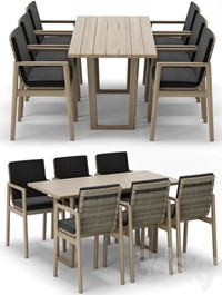 RH Outdoor Mesa table-chair