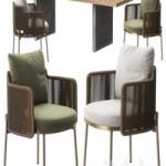 Tape chair Quadrado table by Minotti