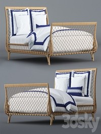 Avalon Bed and Beach Club Border Bedding Set