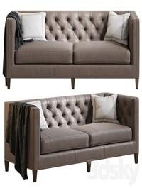 Camille Leather Sofa