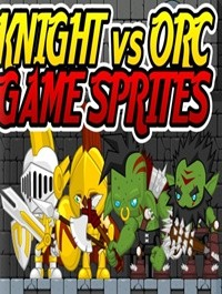 Knight vs Orc Game Sprites