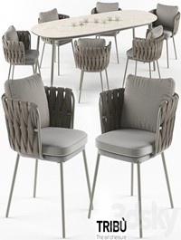 Tosca table armchair set