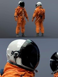 NASA ACES Space Suit 3D Model