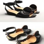Cgtrader Bijou Leather Strap Sandals 3D model