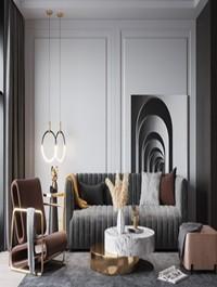 Modern light luxury sofa and coffee table combination 1