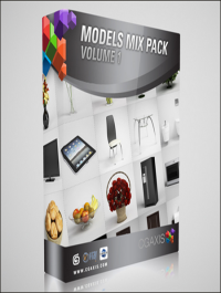 CGAxis Models Mix Pack Vol 1