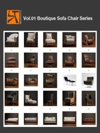 ST CG Vol 01 Boutique Sofa Chair Series