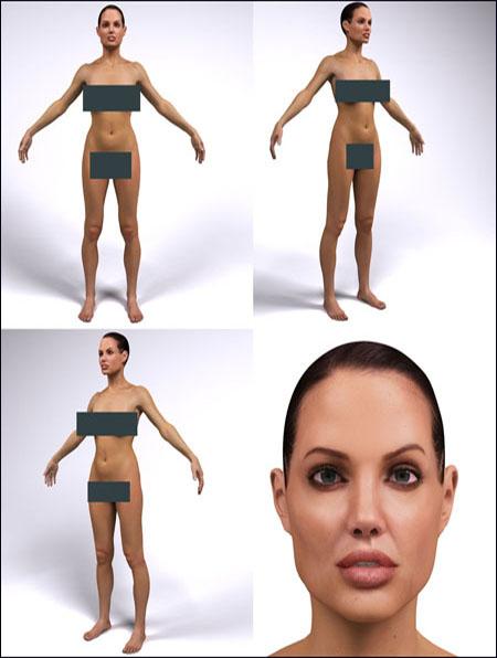 Angelina Jolie Digital Double