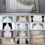 CURTAIN WITH COLOR ZIPPER