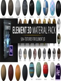 The Pixel Lab Material Pack For Element 3D V2