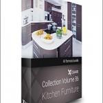 CGAxis Models Volume 86 Kitchen Furniture
