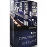 CGAxis Models Volume 87 Bar Equipment