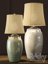 Pottery Barn Courtney Ceramic Table Lamps