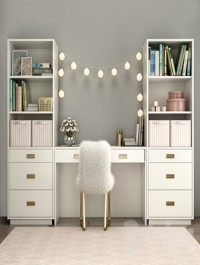 Bookcases Restoration Hardware AVALON with desk WAXED WHITE IN COLOR