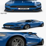 Ford Mustang Shelby Super Snake coupe 2018 3D model