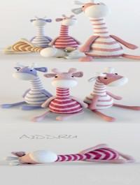 Giraffes textile