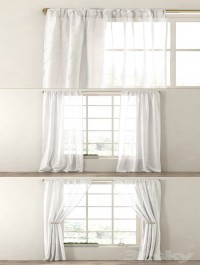 RH / METALLIC SHEER LINEN DRAPERY PANEL