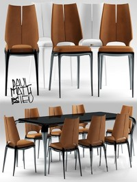 Table and chairs Paul Mathieu for Luxury Living group