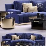 Fendi Artu Round Sectional Sofa