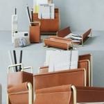 WestElm Faux Leather Brass