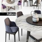 Poliform Grace chair Concorde table