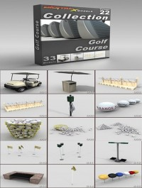 DigitalXModels 3D Model Collection Volume 22: GOLF COURSE