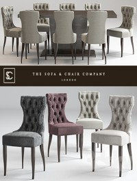 Guinea dining chair Langham Table Lugano