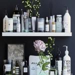 Shelves with cosmetics and bathroom decor 1