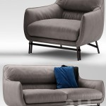 Sofa and armchair Esedra by Prospettive VENICE Sofa