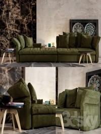 Collar sofa Minotti