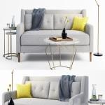 west elm sofa set