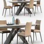 Cattelan Italia Arcadia couture chair Premier table
