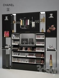 Chanel Cosmetics Display