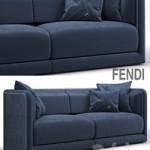 Fendi Casa Conrad Maxi Sofa Blue