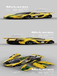 Cgtrader McLaren P1 GTR 2015 - Exterior Interior Engine 3D model