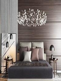 Nordic bedroom / double bed / chandelie Combination