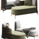 Tape Outdoor daybed by Minotti