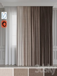 A set of curtains 12 Beige gamma