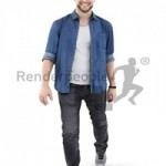 Casual Man Smiling Scanned 3d model