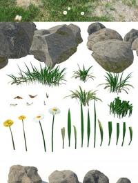 Set for landscaping