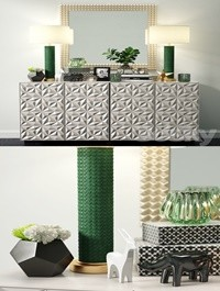 Sideboard Decorative Set 01
