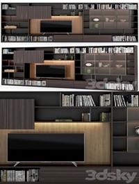 TV zone Molteni 505 wall system