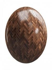 Dark herringone wood parquet PBR Texture