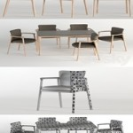 Bellevue Table & Lord Chair by Very Wood