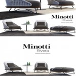 Fotel Minotti Rivera Model 3D