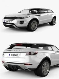 Land Rover Range Rover Evoque 3-door 2011 3D Model