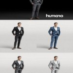 Humano Elegant Business Man Standing and smiling 0101 3D model